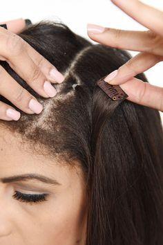 Připevnění clip in vlasů